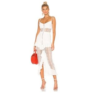 NWT For Love & Lemons Lovebird Lace Midi Dress XS